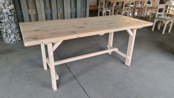 Stôl z masívu,Rozmer stola: dĺžka 190 cm, šírka 80 cm, výška 80 cm